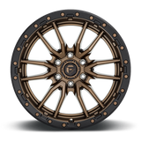 Fuel Rebel 6 D681 22x12 -44 8x180 Black and Bronze