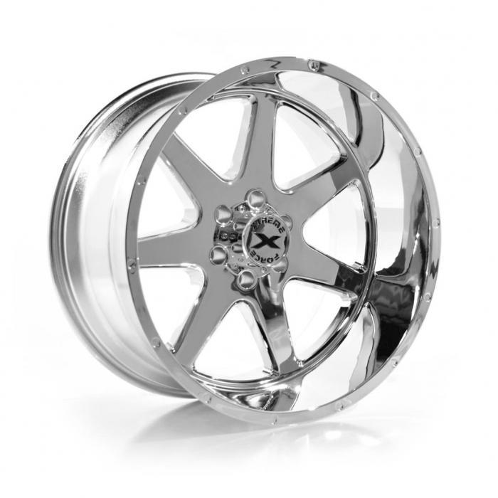 Xtreme Force XF-4 22x12 -44 6x139.7 (6x5.5) Chrome