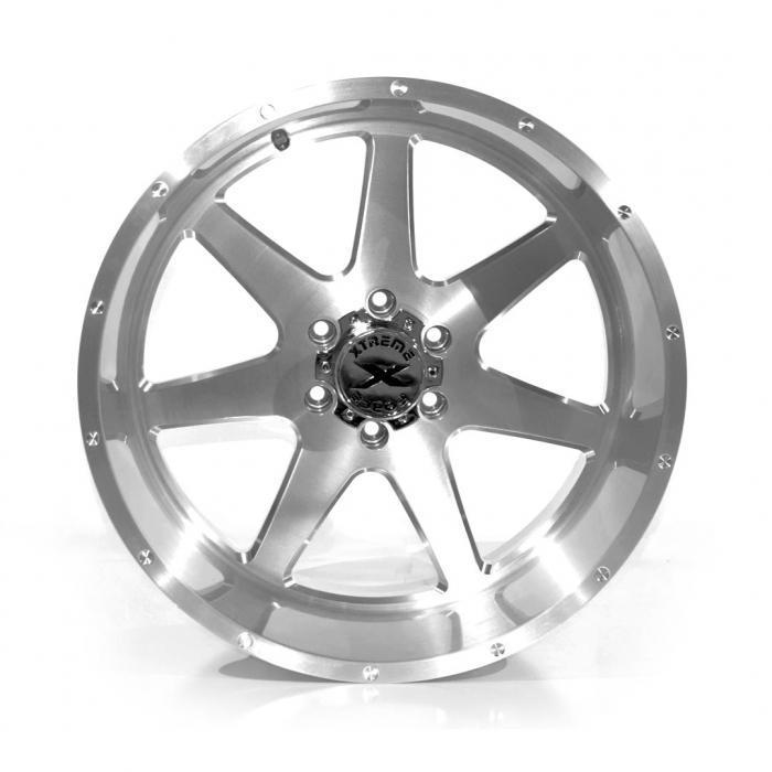 Xtreme Force XF-4 22x12 -44 6x139.7 (6x5.5) Full Brushed
