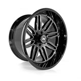 Xtreme Force XF-5 24x14 -76 6x139.7 (6x5.5) Black and Milled