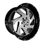 Xtreme Force XF-7 22x12 -44 6x139.7 (6x5.5) Black and Brushed Face