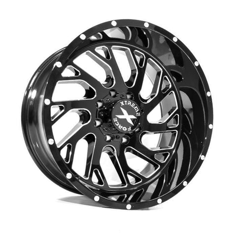 Xtreme Force XF-8 20x10 -19 8x170 Black and Milled