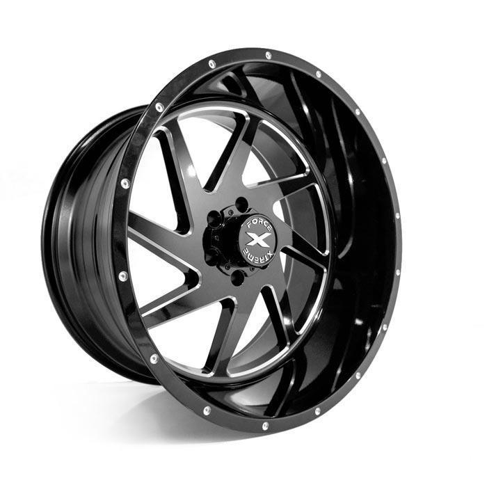 Xtreme Force XF-6 24x14 -76 6x139.7 (6x5.5) Black and Milled