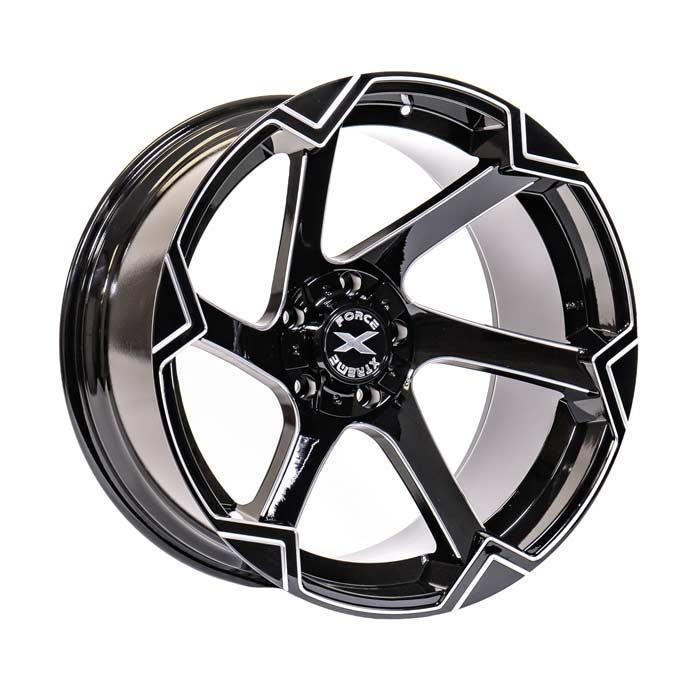 Xtreme Force XF-11 22x12 -51 6x139.7 (6x5.5)/6x135 Black and Milled