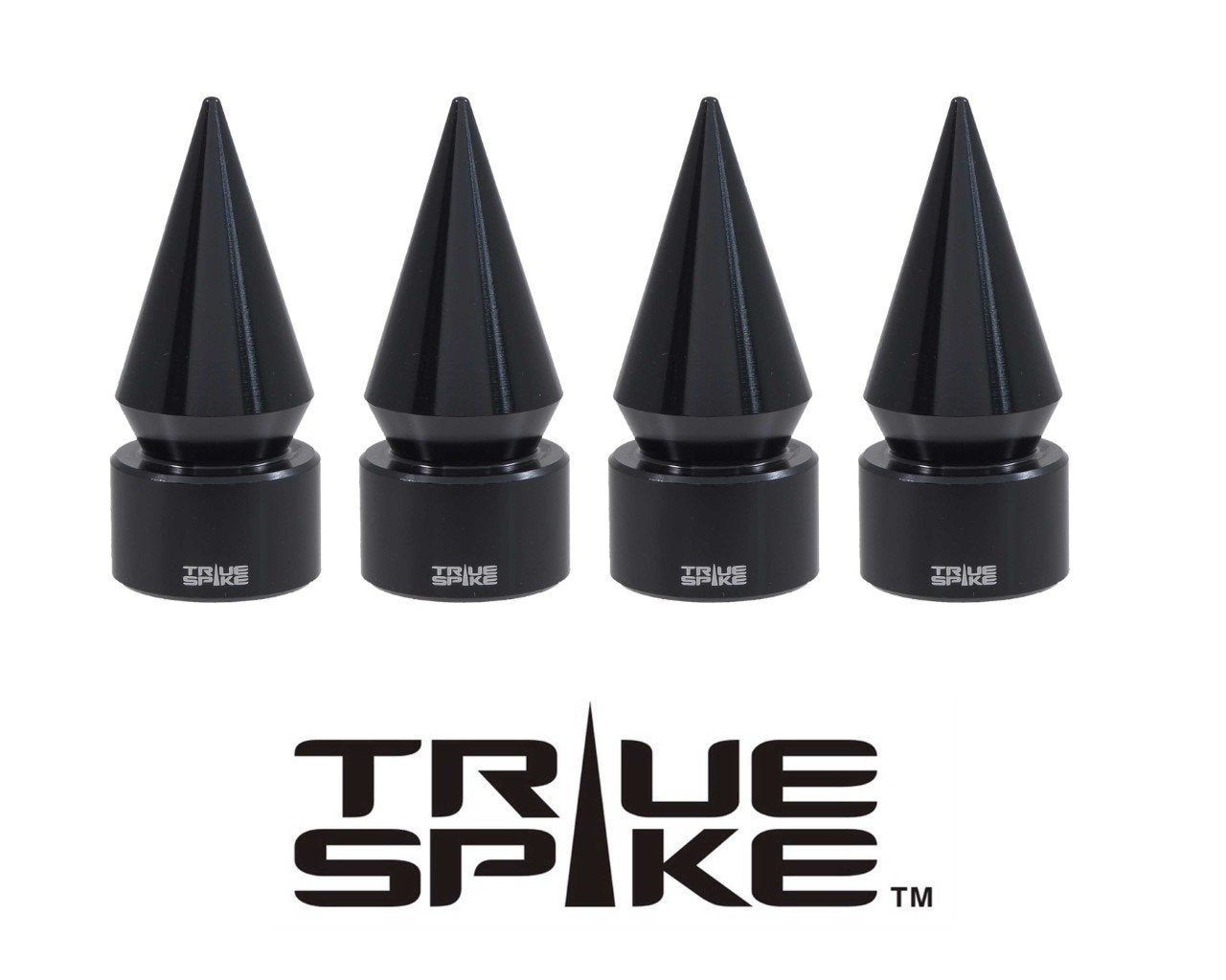 TRUE SPIKE Aluminum Spike Valve Stem Caps (4pc Kit) WVC003