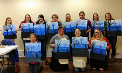 Paint and Sip hosted by Specialty Sweets in downtown Bangor Maine 31 Maine Street.