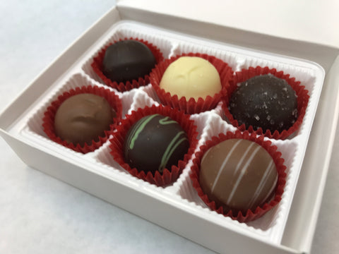 6 Piece Assorted Gourmet Truffle Specialty Sweets Bangor Maine