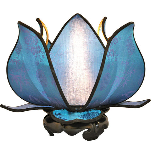 Baby Blooming Lotus Lamp - Aqua - Om Gallery