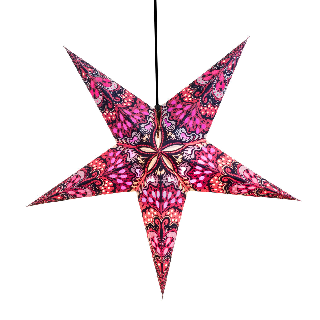Om Paper Star Lantern - Purple India