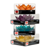 Capiz Lotus Gemstone Collection Pack + 1 Free Stand