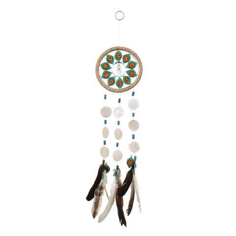 Capiz Dreamcatcher - Peacock