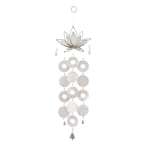 Capiz Lotus Chime - Natural
