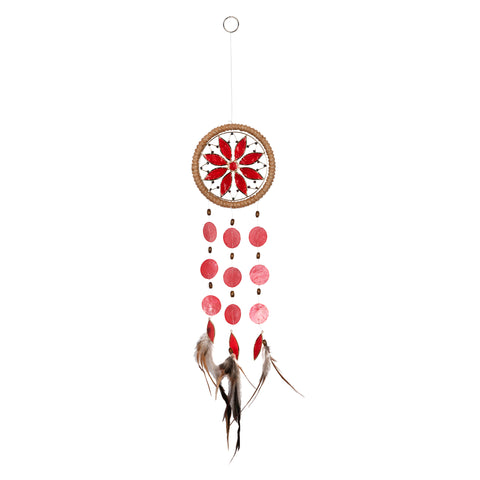 Capiz Chakra Dreamcatcher - Root Red