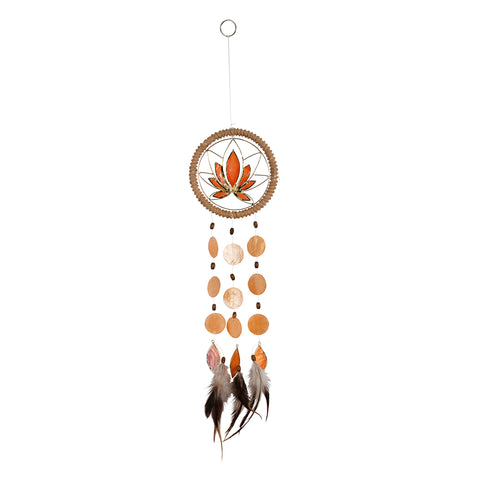 Capiz Lotus Chakra Dreamcatcher - Sacral Orange