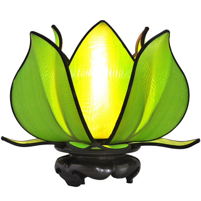 Baby Blooming Lotus Lamp - Green - Om Gallery