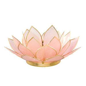 Gemstone Lotus  -  Rose Quartz