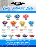 Capiz Shell Lotus Mixed 50 Value Pack + 2 Free Stand