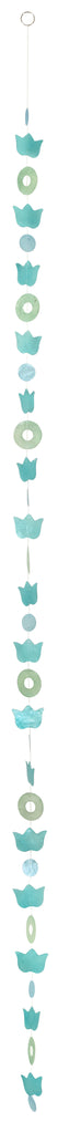 Capiz Shell Garland - Lotus Aqua