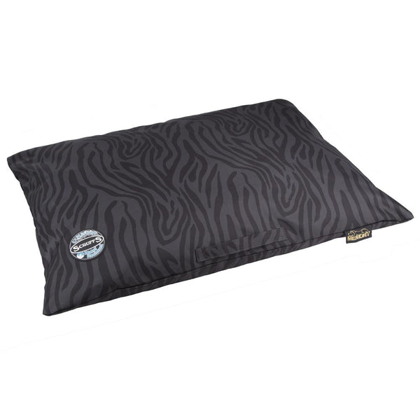 Expedition Memory Pillow Bed - Black & Grey Stripe Dog Bed Scruffs®