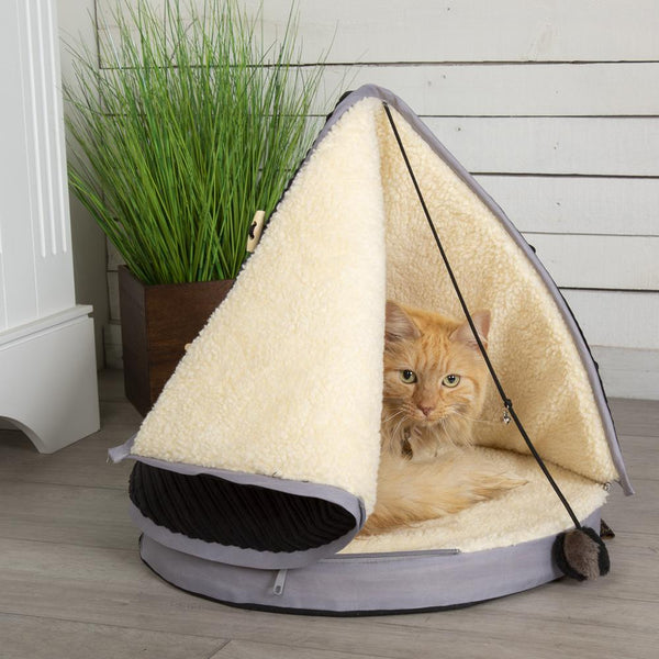 TeePee Cat Bed - Black & Grey Cat Bed Scruffs®