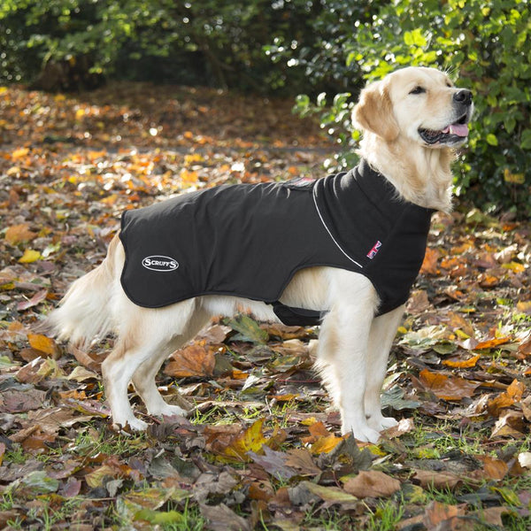 Thermal Self-Heating Dog Coat - Black Dog Jacket Scruffs®