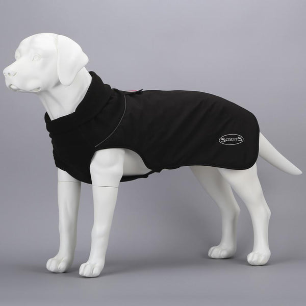 Thermal Reflective Dog Jacket - Black Dog Jacket Scruffs®
