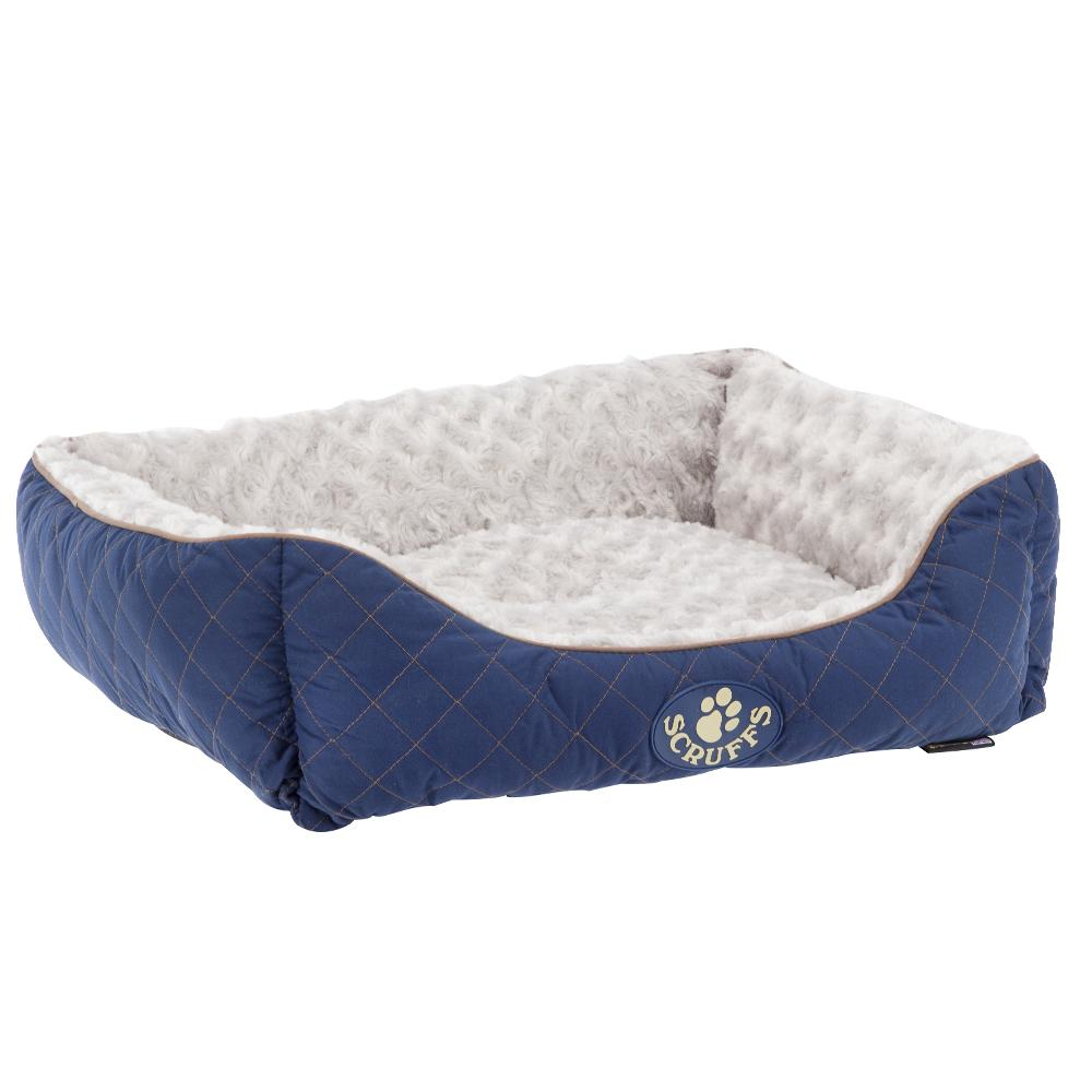 Wilton Box Dog Bed - Blue Dog Bed Scruffs®