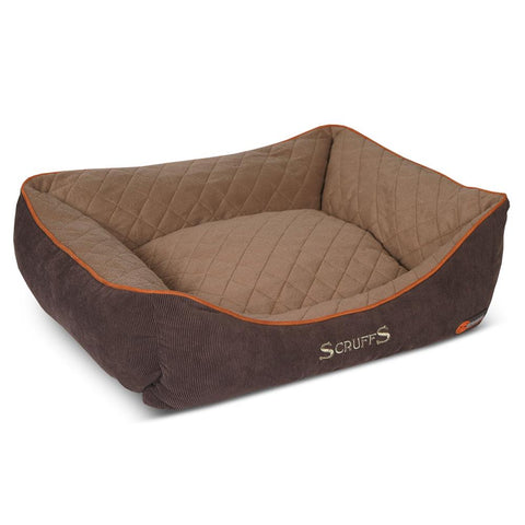 Thermal Box Bed - Brown & Tan Dog Bed Scruffs®