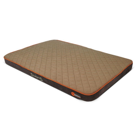 Thermal Pet Mattress - Brown & Tan Dog Bed Scruffs®