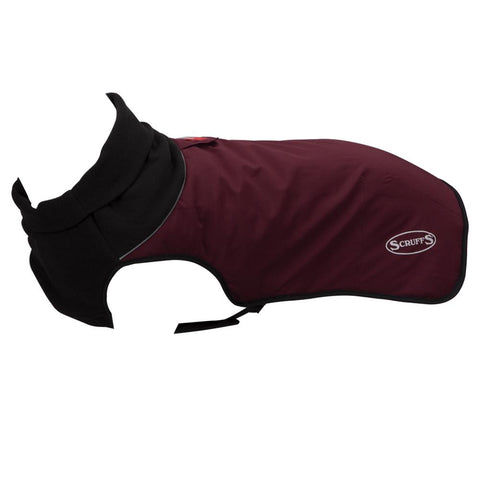 Thermal Reflective Dog Jacket - Burgundy Dog Jacket Scruffs®
