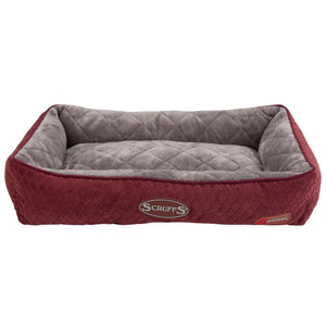 Thermal Lounger Cat Bed - Burgundy Cat Bed Scruffs®