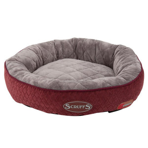Thermal Ring Cat Bed - Burgundy Cat Bed Scruffs®