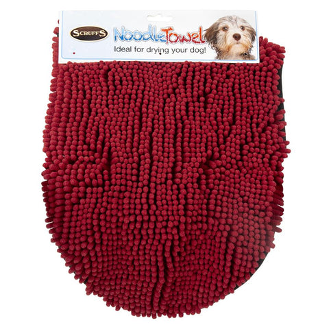 Noodle Drying Towel - Burgundy Dog Grooming Scruffs®