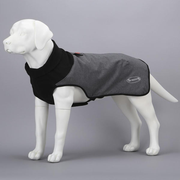 Thermal Self-Heating Dog Coat - Cajun Grey Dog Jacket Scruffs®