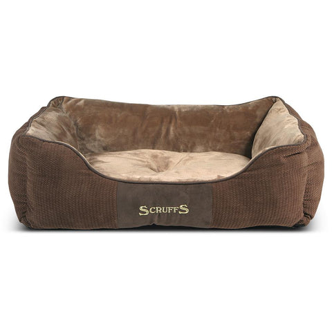 Chester Box Dog Bed - Chocolate Brown Dog Bed Scruffs®