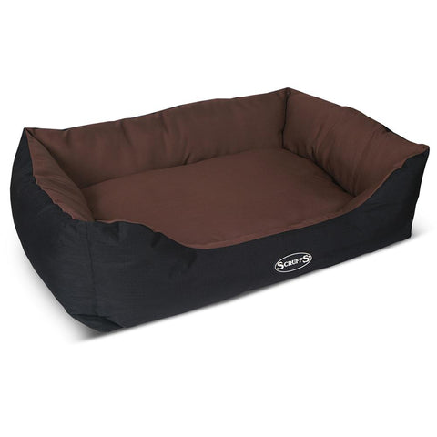 Expedition Box Bed - Chocolate Brown Dog Bed Scruffs®