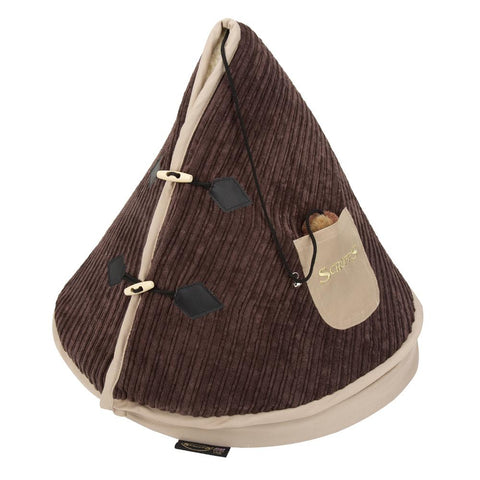 TeePee Cat Bed - Chocolate & Tan Cat Bed Scruffs®
