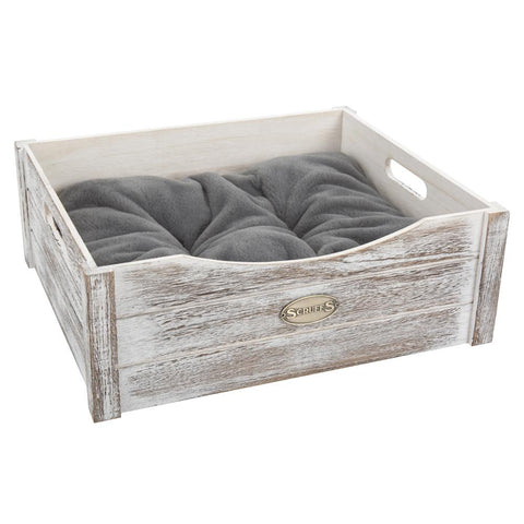 Rustic Wooden Pet Bed - Driftwood Cat Bed Scruffs®