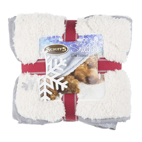 Winter Wonderland Snuggle Blanket - Grey Dog Blanket Scruffs®
