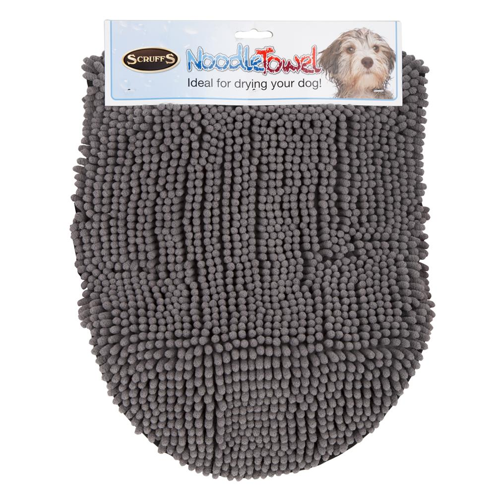 Noodle Drying Towel - Grey Dog Grooming Scruffs®