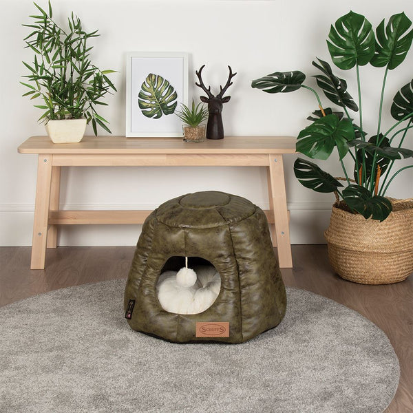 Knightsbridge Cat Bed - Olive Cat Bed Scruffs®