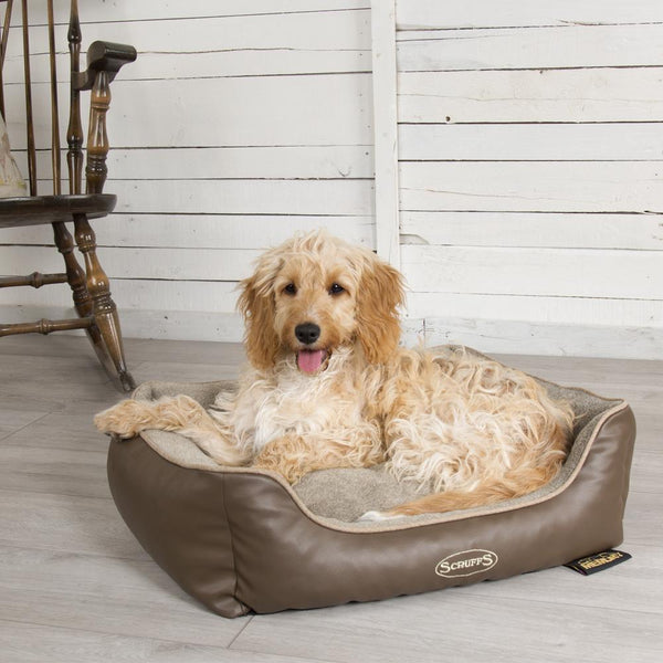 Chateau Box Bed - Latte Dog Bed Scruffs®