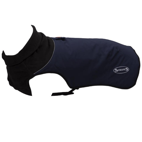 Thermal Self-Heating Dog Coat - Navy Blue Dog Jacket Scruffs®