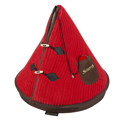 TeePee Cat Bed - Pink & Chocolate Cat Bed Scruffs®