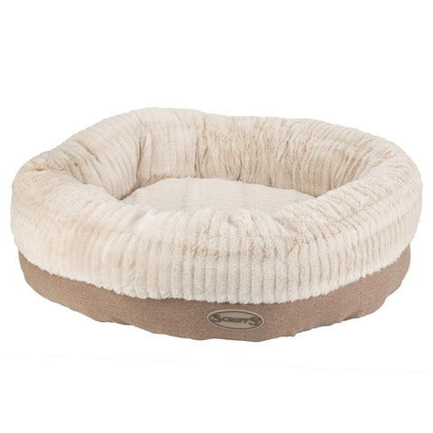 Ellen Donut Bed - Tan Dog Bed Scruffs®