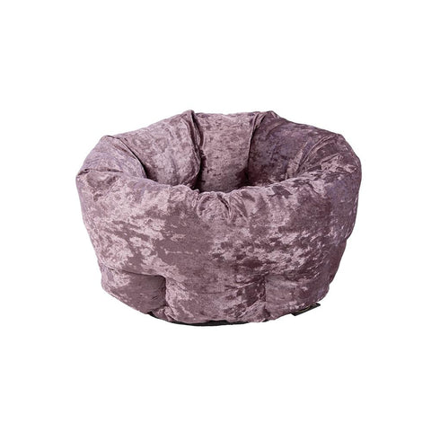 Velvet Donut Bed - Purple Dog Bed Scruffs®