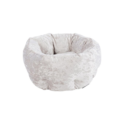 Velvet Donut Bed - Silver Dog Bed Scruffs®