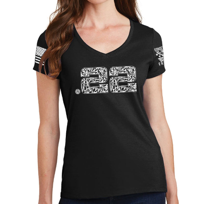 Made of 22 Ladies V-Neck T-shirt