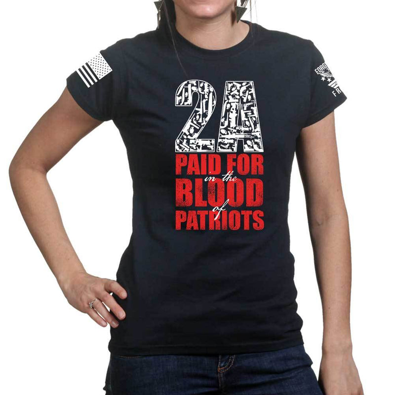 2A Paid For In Blood of Patriots Ladies T-shirt