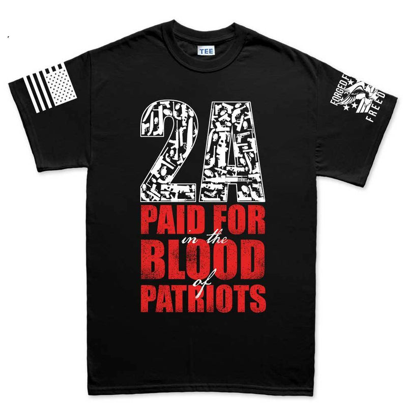 2A Paid For In Blood of Patriots Mens T-shirt